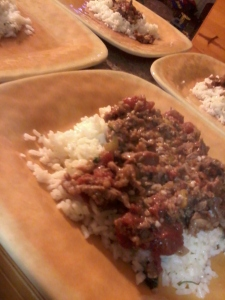 carne picada over lime cilantro rice cover photo