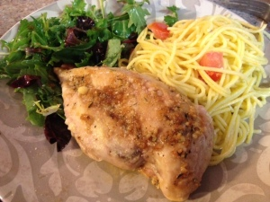 garlic brown sugar chicken with garlic aioli pasta 2