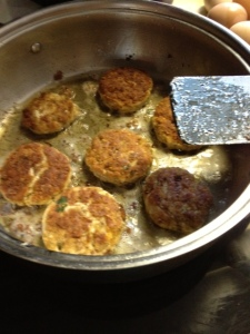 fish cakes cooking 2