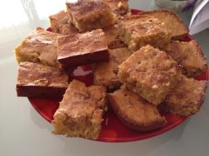 gluten-free rhubarb mango coffee cake 2