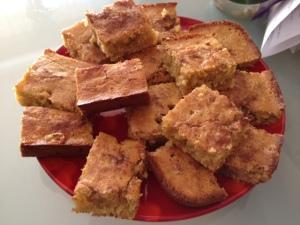 gluten-free rhubarb mango coffee cake